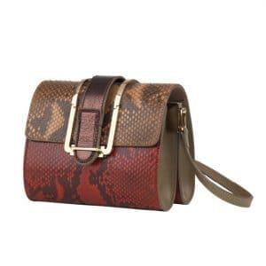 Chloe Red Python Bronte Crossbody Mini Bag - Spring 2014
