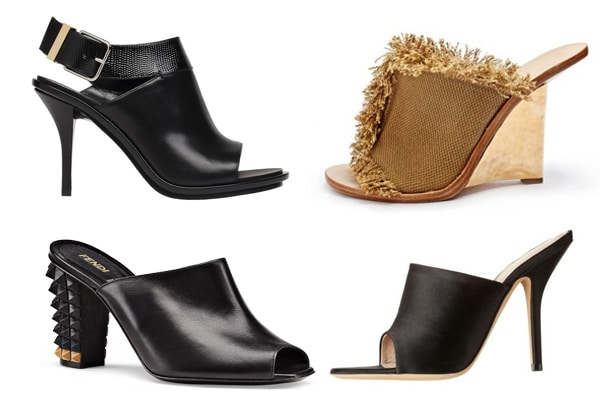 The Top Luxury Designer Mules For The Spring 2014 Season