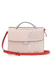 Fendi Baby Pink Circuit Inlay Demi Jour Bag - Spring 2014