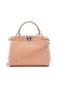 Fendi Baby Pink Crocodile Peekaboo Mini Bag - Spring 2014