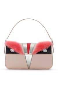 Fendi Baby Pink Monster Baguette Bag - Spring 2014