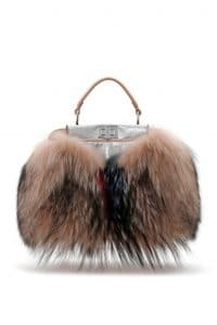 Fendi Beige Fox Fur Peekaboo Mini Bag - Spring 2014
