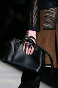Fendi Black Box Tote bag with Alligator Zip - Fall 2014