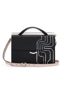 Fendi Black Circuit Inlay Demi Jour Bag - Spring 2014