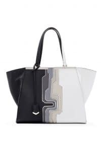 Fendi Black Multicolor Circuit Inlay 3Jours Tote Large Bag - Spring 2014