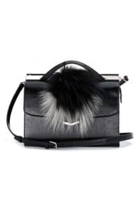 Fendi Black wiith Fox Fur Demi Jour Bag - Spring 2014