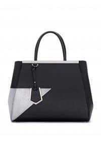Fendi Black/Silver 2Jours Tote Bag - Spring 2014