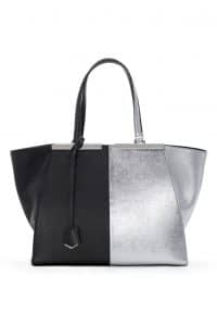 Fendi Black/Silver 3Jours Tote Large Bag - Spring 2014