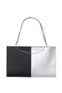 Fendi Black/Silver Bi-color Grande Clutch Bag - Spring 2014