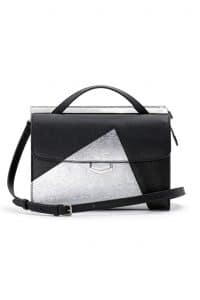 Fendi Black/Silver Palladium Hardware Demi Jour Bag - Spring 2014