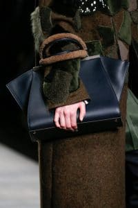 Fendi Blue 3Jours Tote bag with Brown Shearling Handle - Fall 2014
