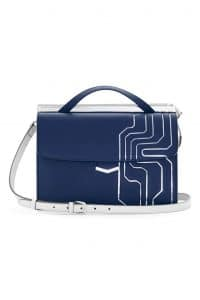 Fendi Blue Circuit Inlay Demi Jour Bag - Spring 2014