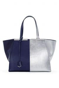 Fendi Blue/Silver 3Jours Tote Large Bag - Spring 2014