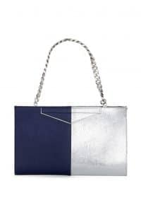 Fendi Blue/Silver Bi-color Grande Clutch Bag - Spring 2014