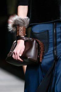 Fendi Brown Box Tote bag with Alligator Zip - Fall 2014