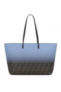 Fendi Brown FF/Degrade Blue Two-Tone FF Roll Bag - Spring 2014