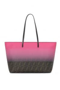 Fendi Brown FF/Degrade Candy Pink Two-Tone FF Roll Bag - Spring 2014