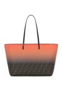 Fendi Brown FF/Degrade Sunset Orange Two-Tone FF Roll Bag - Spring 2014
