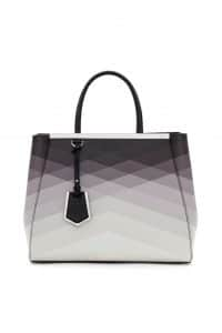 Fendi Degrade Black Geometric 2Jours Tote Bag - Spring 2014