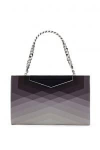 Fendi Degrade Black Geometric Grande Clutch Bag - Spring 2014