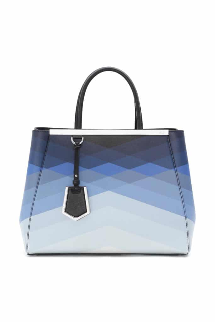 Fendi Degrade Blue Geometric 2Jours Tote Bag - Spring 2014