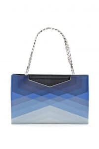 Fendi Degrade Blue Geometric Grande Clutch Bag - Spring 2014