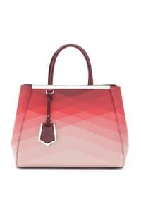 Fendi Degrade Blue Geometric 2Jours Tote Bag - Spring 2014