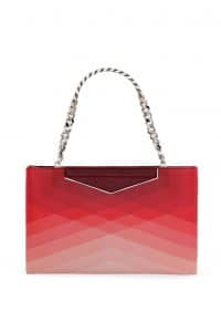 Fendi Degrade Red Geometric Grande Clutch Bag - Spring 2014