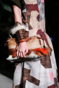 Fendi Fur Box Clutch Multicolor Bag - Fall 2014