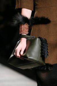 Fendi Green Box Tote bag with Alligator Zip - Fall 2014