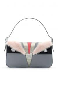 Fendi Grey Monster Baguette Bag - Spring 2014