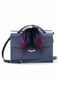 Fendi Grey with Fox Fur Demi Jour Bag - Spring 2014