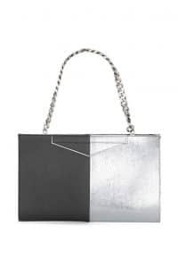 Fendi Grey/Silver Bi-color Grande Clutch Bag - Spring 2014