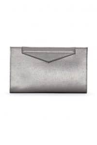 Fendi Metallic Grey Grande Clutch Small Bag - Spring 2014