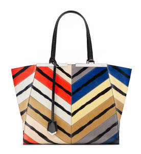 Fendi Multicolor Ayers 3Jours Tote Large Bag - Spring 2014