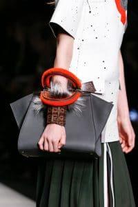 Fendi Peekaboo Shearling Handle Bag - Fall 2014
