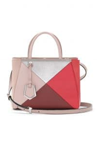 Fendi Pink Multicolor Geometric 3D 2Jours Tote Small Bag - Spring 2014