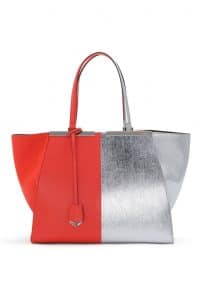 Fendi Red/Silver 3Jours Tote Large Bag - Spring 2014