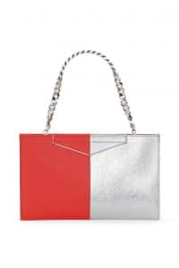Fendi Red/Silver Bi-color Grande Clutch Bag - Spring 2014