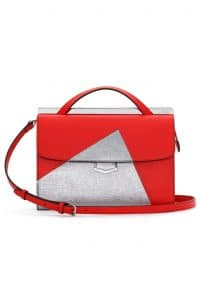Fendi Red/Silver Palladium Hardware Demi Jour Bag - Spring 2014