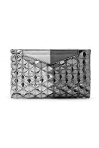 Fendi Silver Embellished Grande Clutch Small Bag - Spring 2014