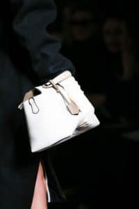 Fendi White Box Tote Bag - Fall 2014
