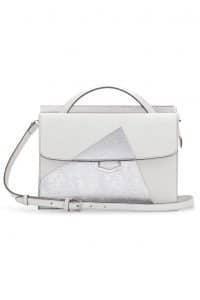 Fendi White/Silver Palladium Hardware Demi Jour Bag - Spring 2014