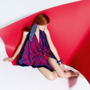 Hermes Mors et Gourmettes Remix/Ex-Libris a Carreaux Scarves - Spring 2014 Ad Campaign