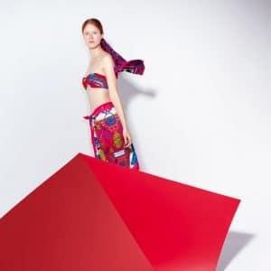 Hermes Rose de Compas/Caleche Elastique/Etriers Scarves - Spring 2014 Ad Campaign