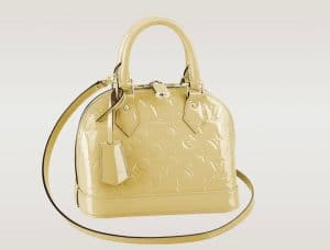 Louis Vuitton Citrine Vernis Alma BB Bag - Spring 2014