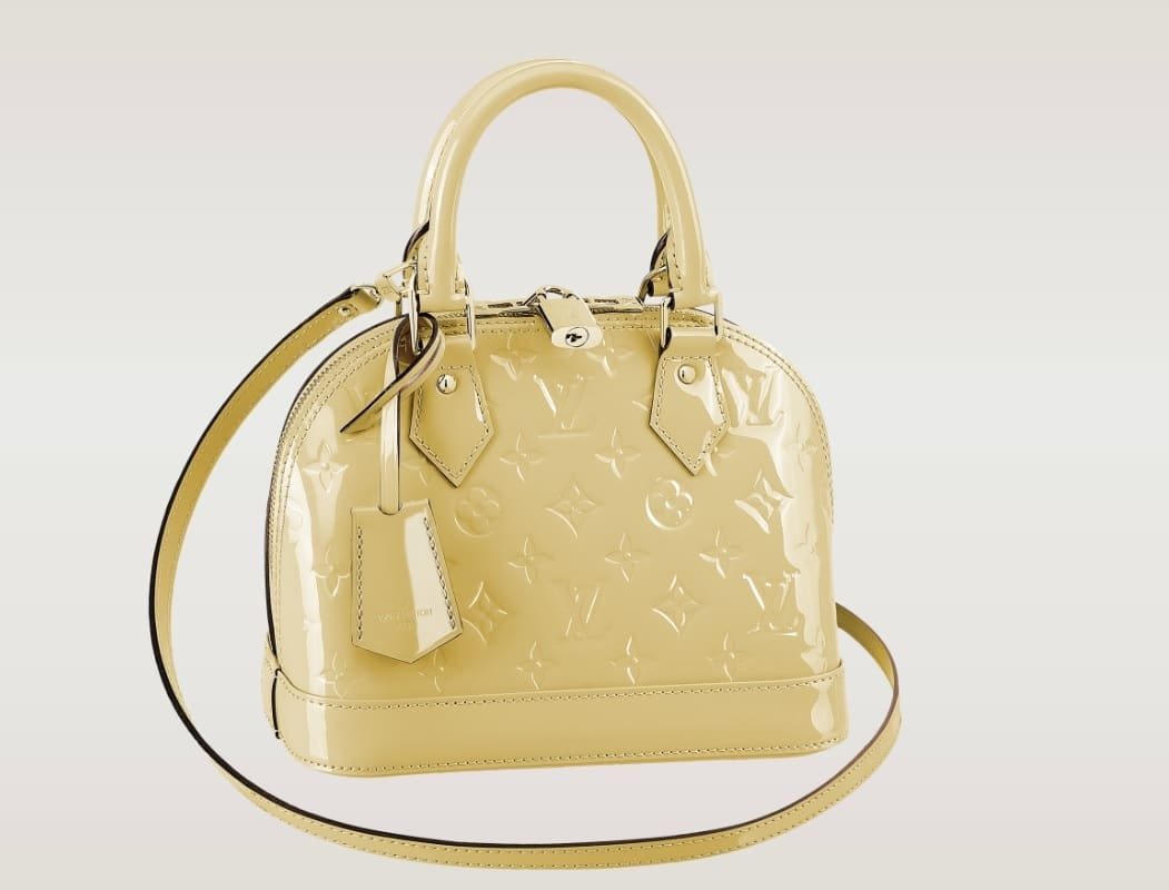 b8657a16196d Louis Vuitton Citrine Vernis Alma BB Bag - Spring 2014