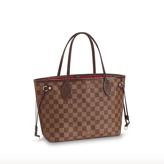 Louis Vuitton Damier Ebene Neverfull Pm Bag
