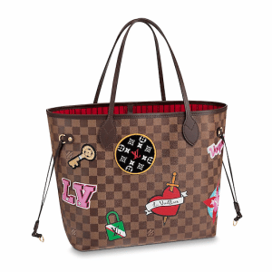 Louis Vuitton Damier Ebene Stickers Neverfull MM Bag