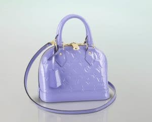 Louis Vuitton Lilac Vernis Alma BB Bag - Spring 2014